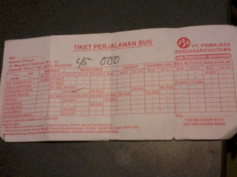 Tiket Bus Primajasa Just Do It